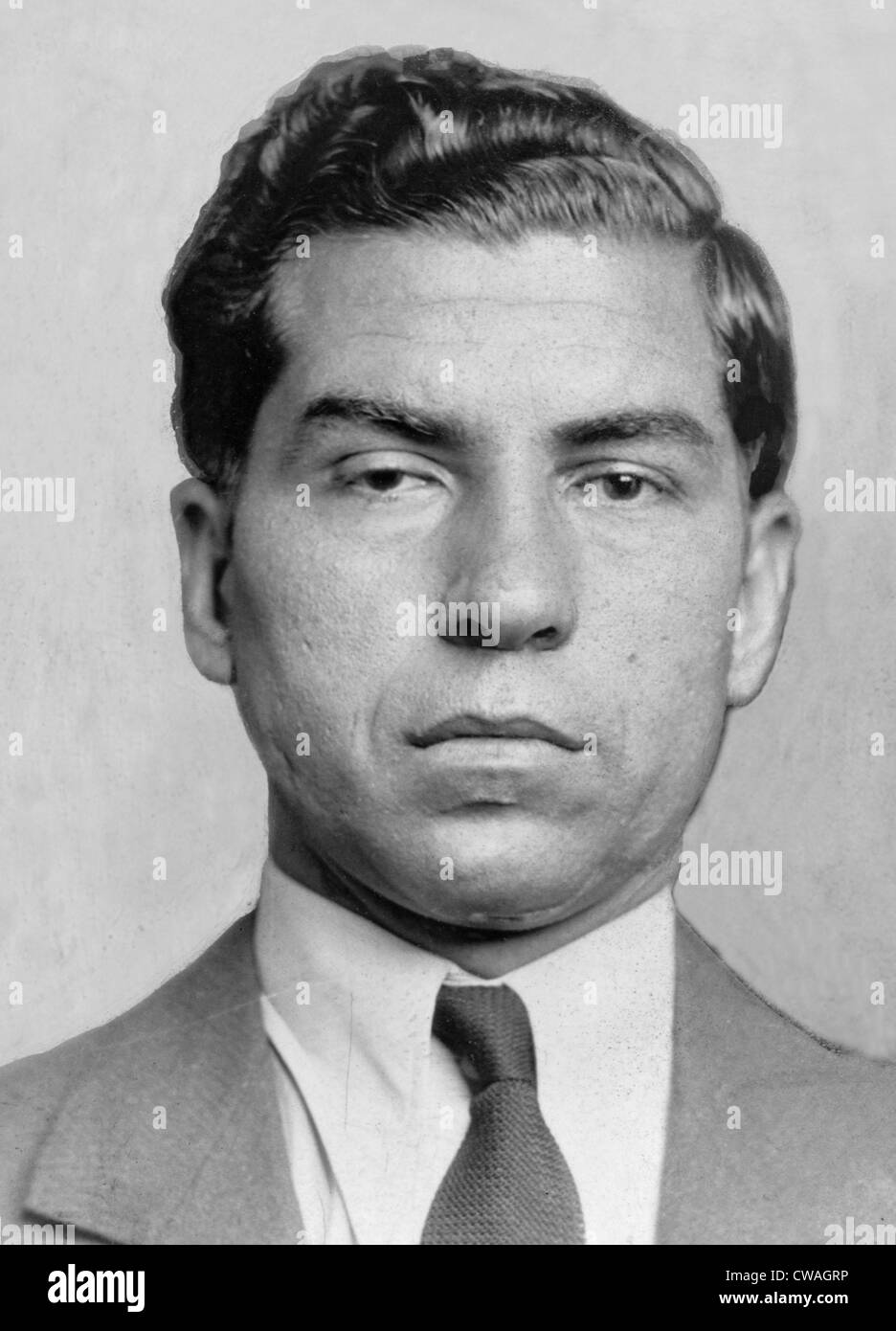 Lucky Luciano (1896-1962) was imprisoned from 1935 to 1946, when his sentence was commuted for his World War II Stock Photo