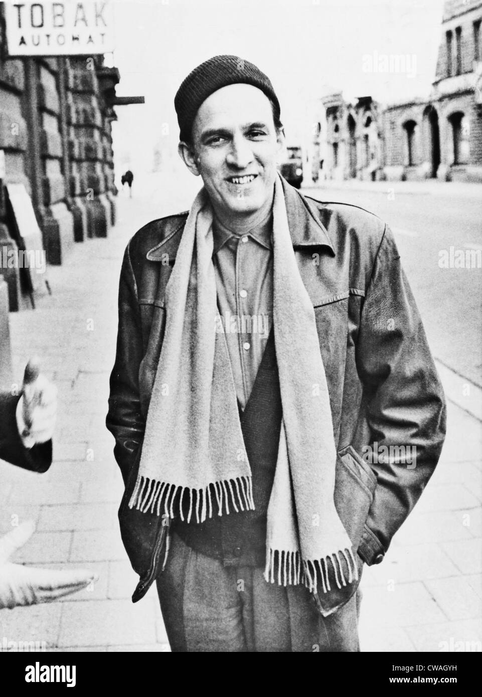 Ingmar Bergman (1918-2007), Swedish director and filmmaker, on a Stockholm street in 1961. - Stock Image
