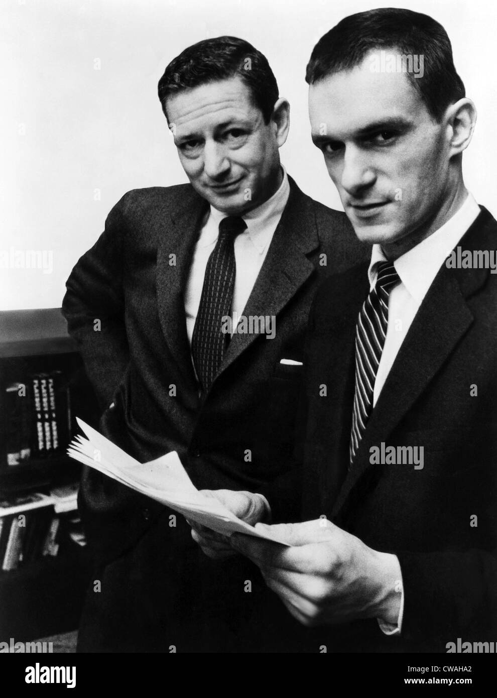 Author A.C. Spectorsky and Hugh Hefner, editor-publisher of Playboy Magazine, ca 1956. Courtesy CSU Archives/Everett - Stock Image