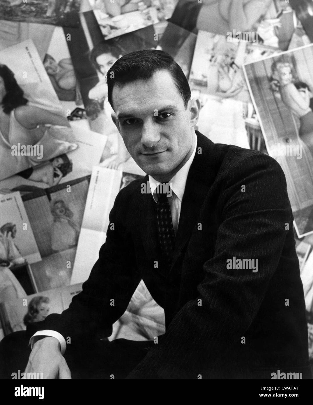 Hugh Hefner, editor-publisher of Playboy Magazine, ca 1950s. Courtesy CSU Archives/Everett Collection. - Stock Image