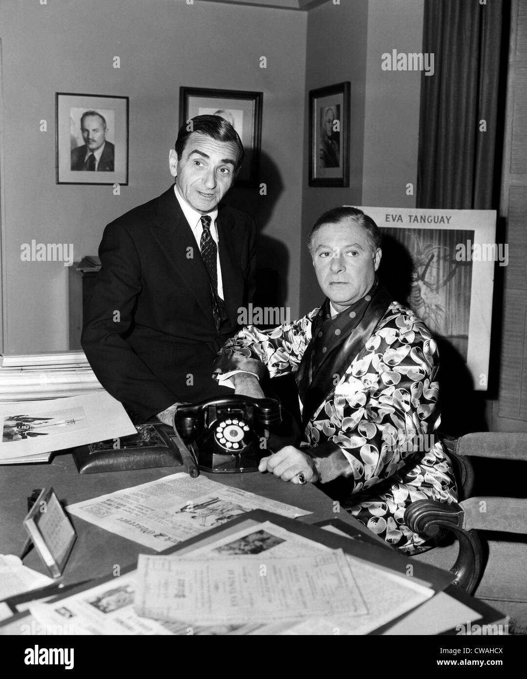 Irving Berlin and George Jessel, 1951. Courtesy: CSU Archives/Everett Collection - Stock Image