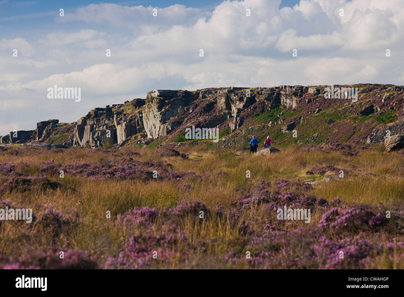 Curbar Edge, Peak District National Park, Derbyshire, England UK - Stock Image