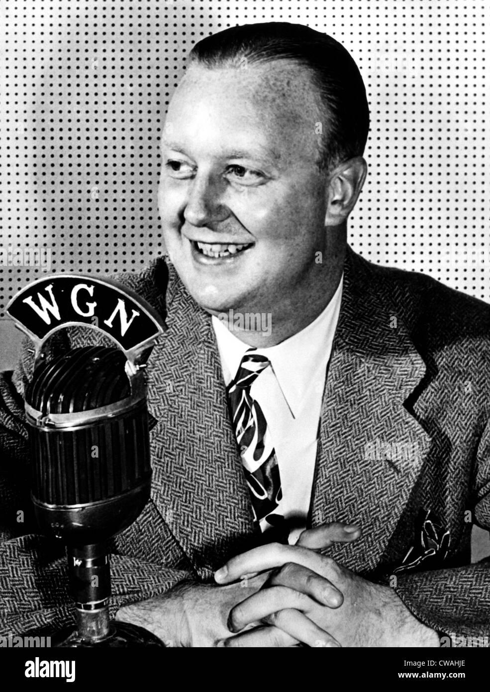 Jack Brickhouse, sportscaster, circa 1950s. Courtesy: CSU Archives / Everett Collection - Stock Image