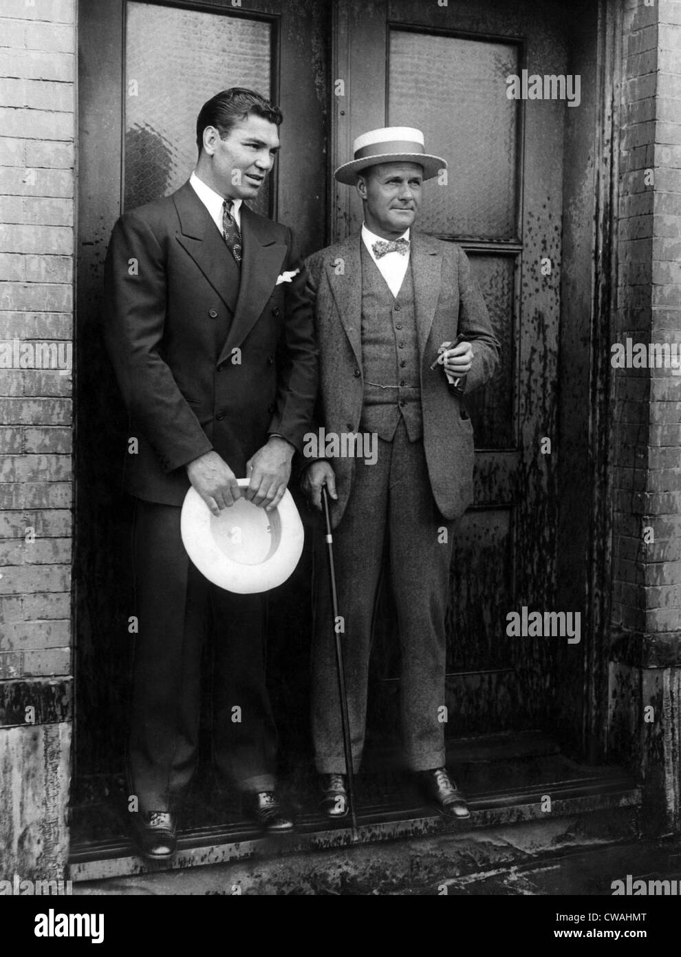 Jack Dempsey and Tex Richard, New York, New York, July 1927. Courtesy: CSU Archives/Everett Collection - Stock Image