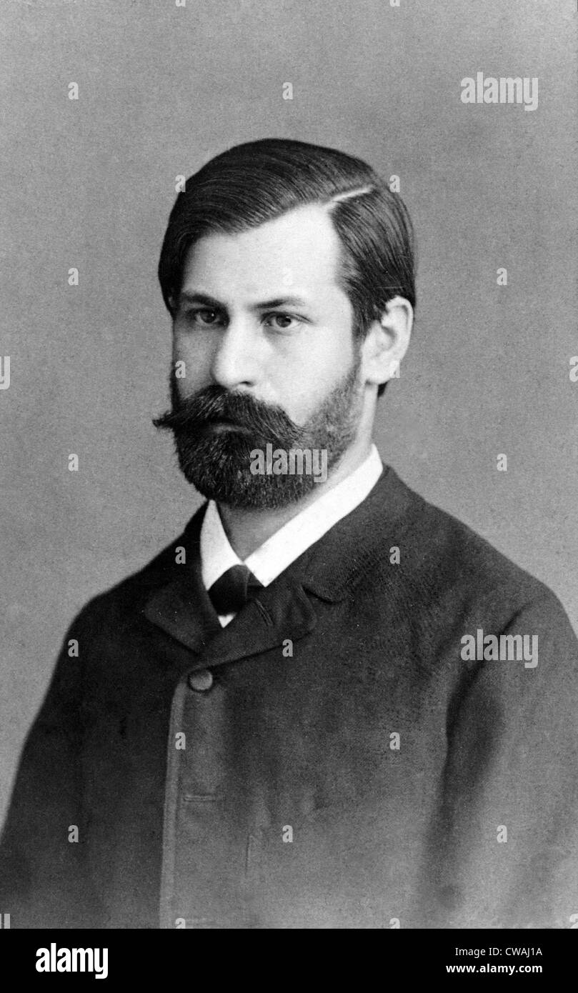Sigmund Freud (1856-1939), in 1885, when he was training as a psychiatrist at General Hospital in Vienna. - Stock Image