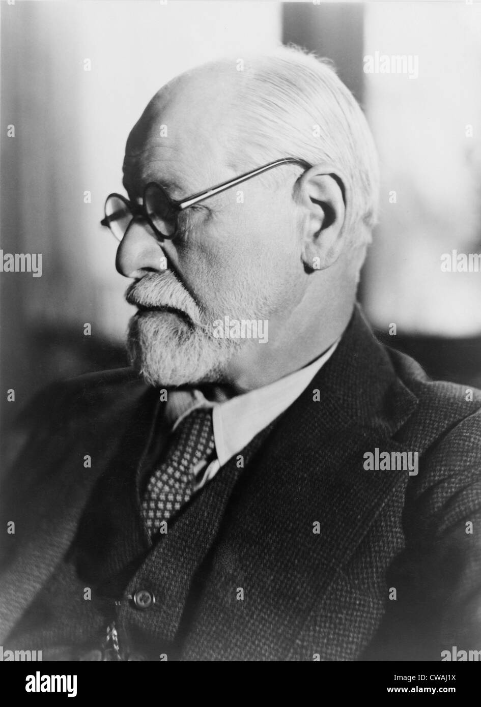 Sigmund Freud (1856-1939), in the 1930's. - Stock Image