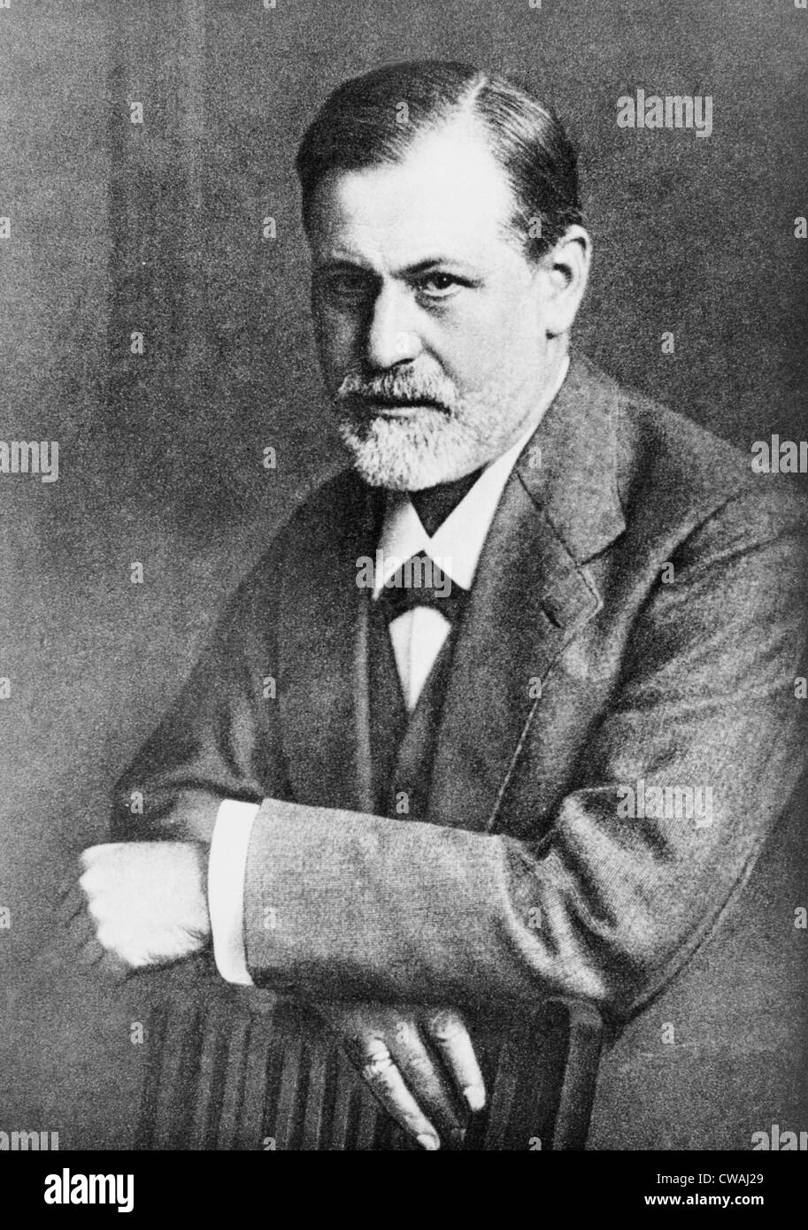 Sigmund Freud (1856-1939), at age 45 in 1909, the year he traveled to the United States to lecture.  The following - Stock Image