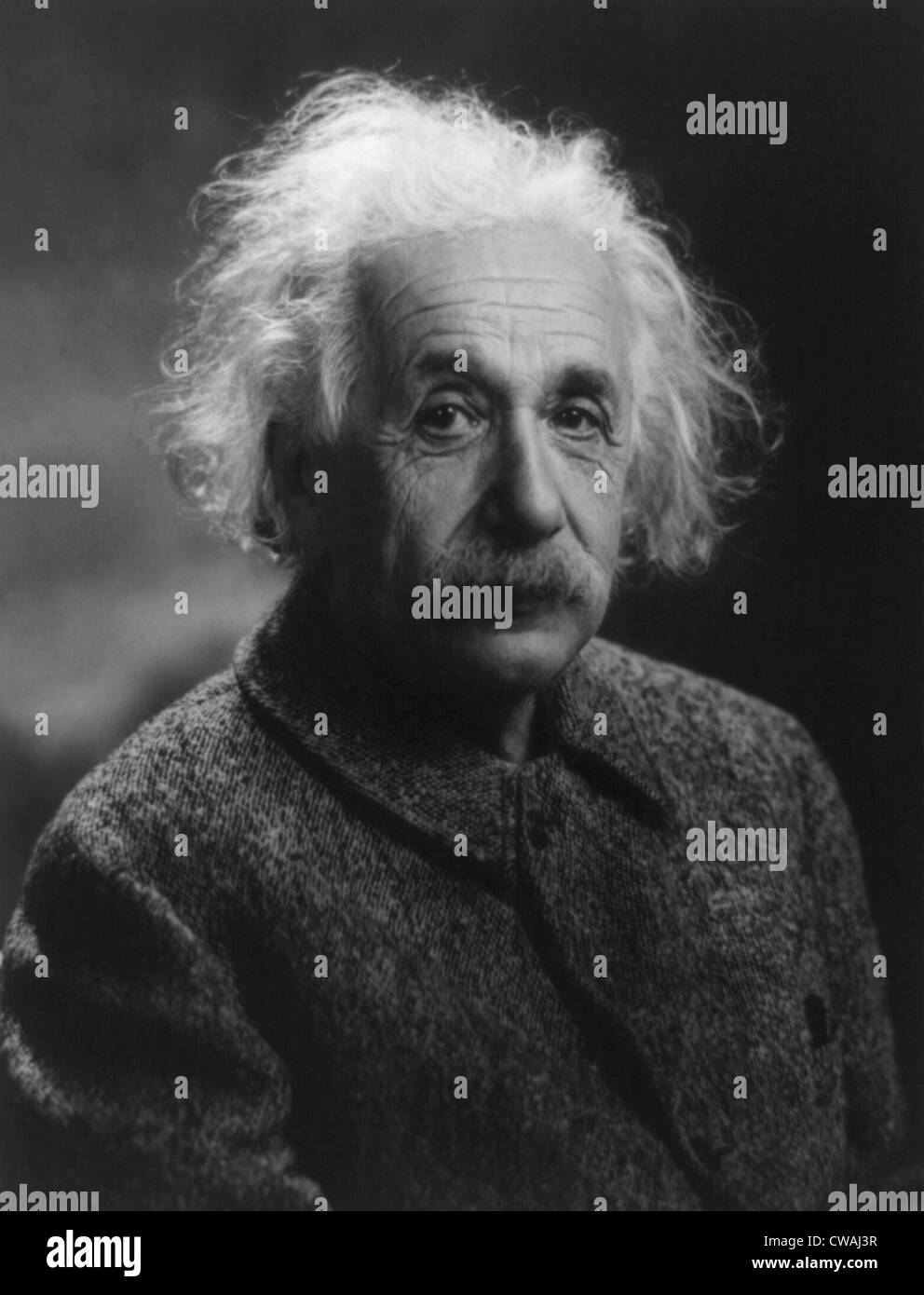 Albert Einstein (1879-1955) advocated the US development of the atomic bomb.  However, after the bomb was used against - Stock Image