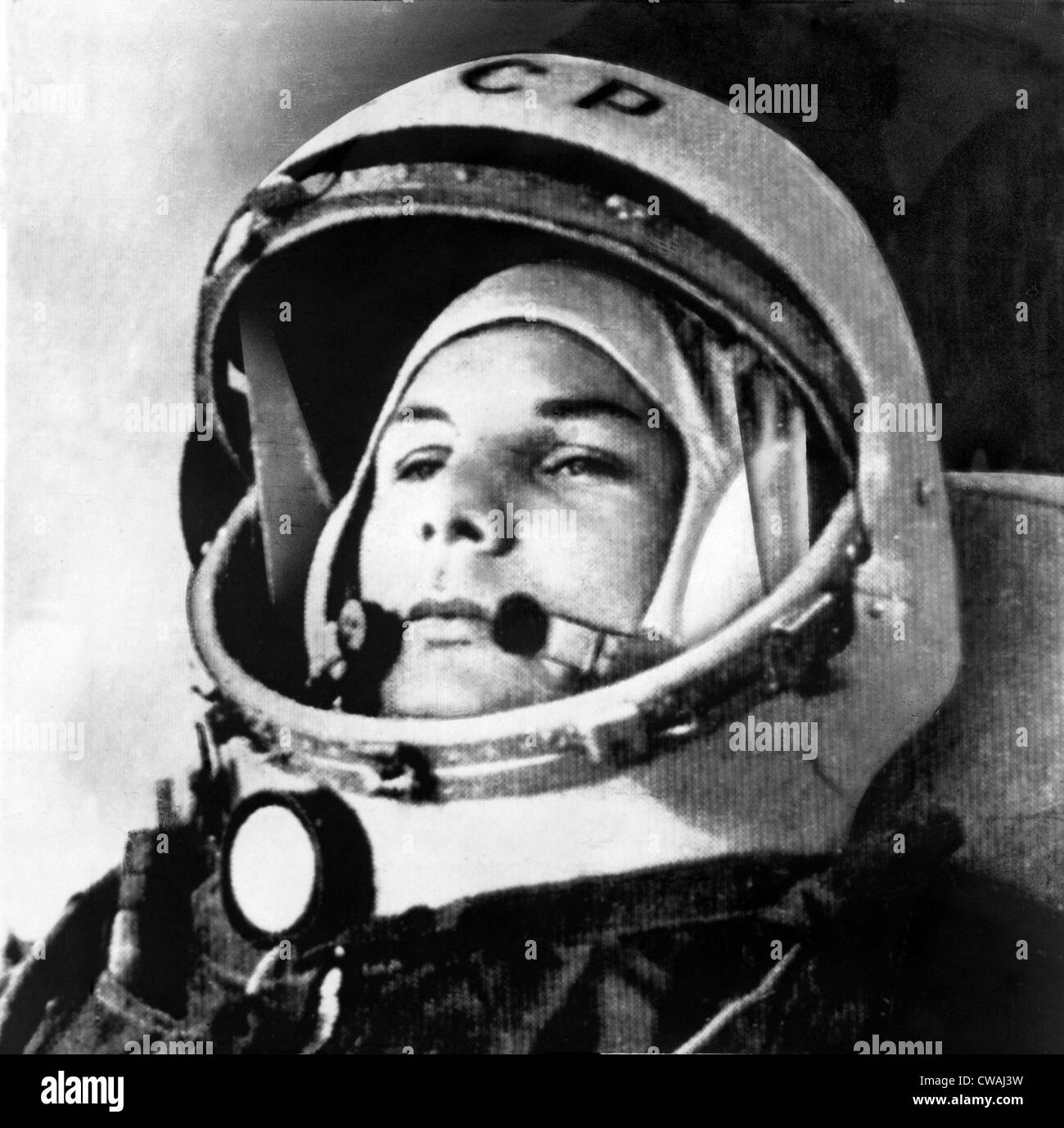 Yuri Gagarin (1934-1968.), Russian cosmonaut, was the first human to go into space, during his three earth orbit - Stock Image