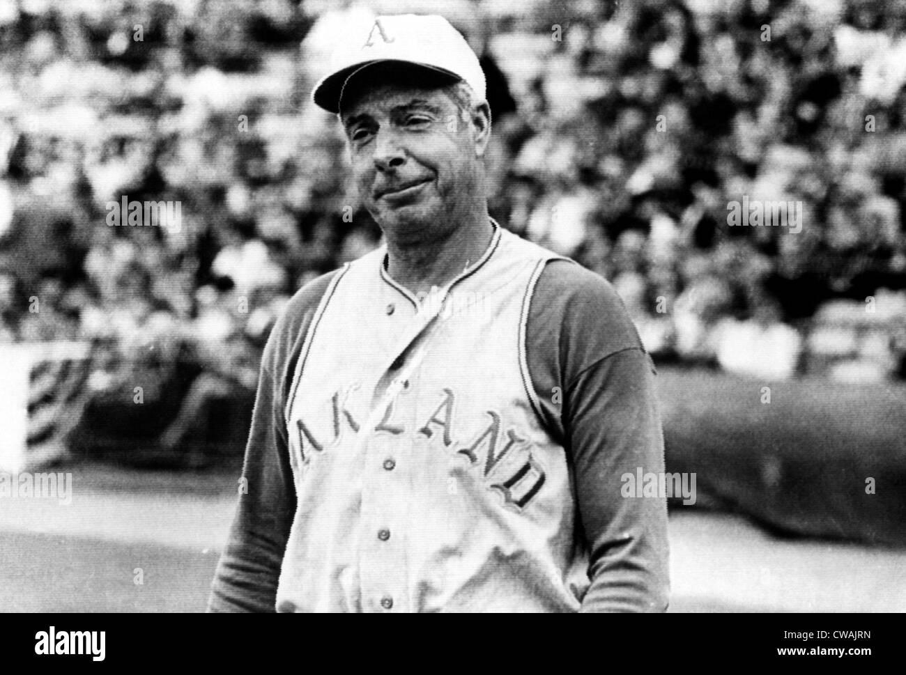 Joe DiMaggio as the Oakland Orioles' coach, 1968. Courtesy: CSU Archives/Everett Collection - Stock Image
