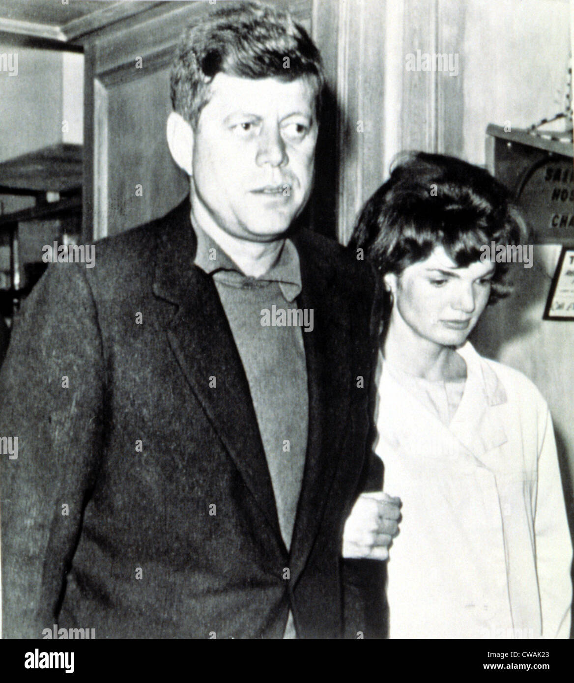 President and Jacqueline Kennedy, 1961.. Courtesy: CSU Archives / Everett Collection - Stock Image
