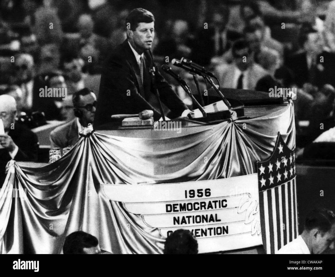 John F. Kennedy at the Democratic National Convention, August 16, 1956.. Courtesy: CSU Archives / Everett Collection - Stock Image