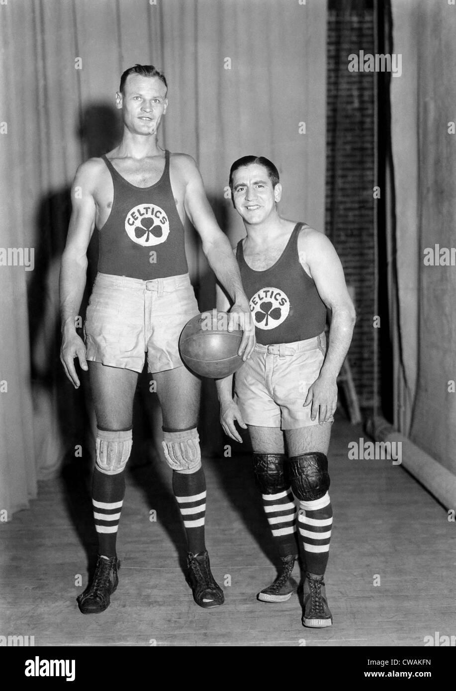 Professional basketball player Joe Lapchick (left), of The Boston Celtics, c. 1930s.. Courtesy: CSU Archives / Everett - Stock Image