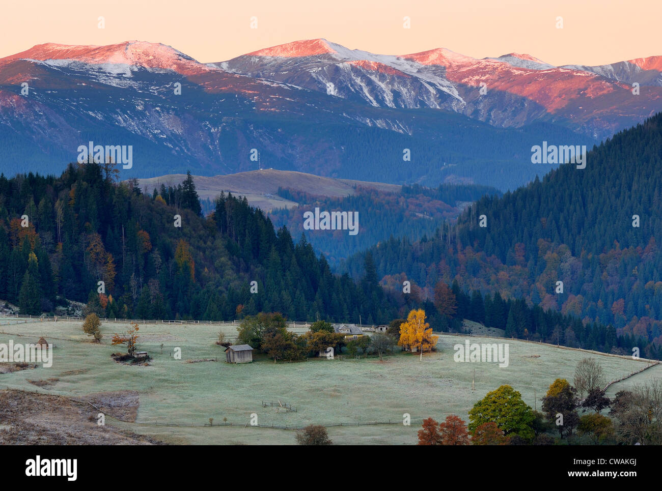 Krasnik village area, Carpathian Mountains, Ivano-Frankivsk region, Ukraine - Stock Image