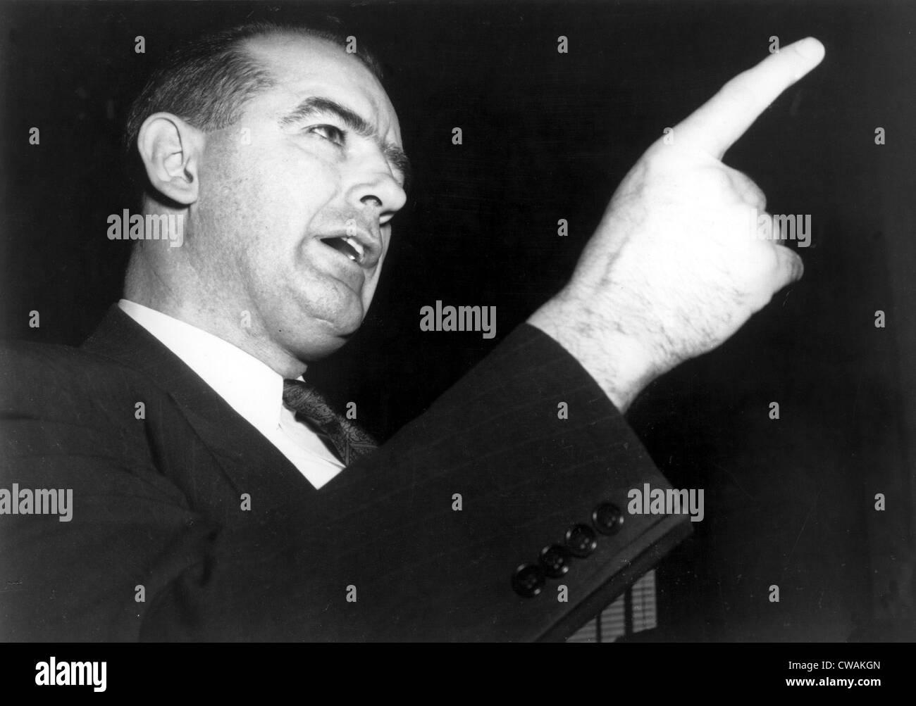 Senator Joseph McCarthy, speaking, 1950s, CSU Archives - Stock Image