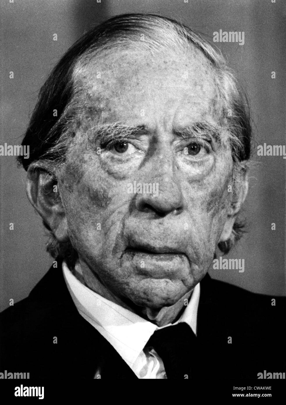 J. Paul Getty, 1974. Courtesy: CSU Archives / Everett Collection - Stock Image