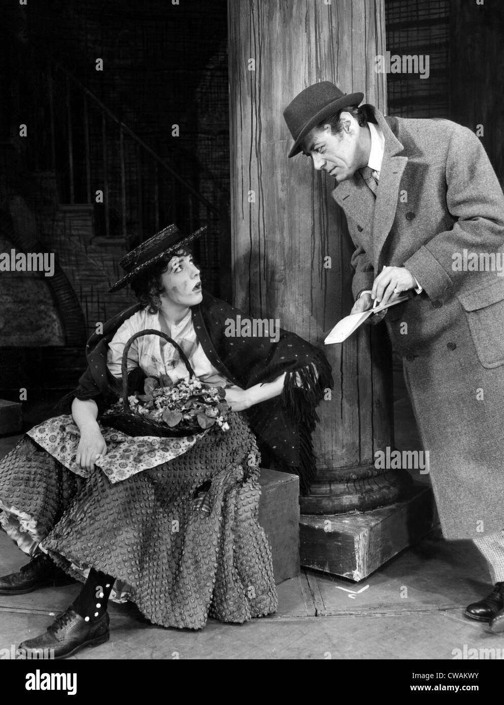 MY FAIR LADY, Julie Andrews, Rex Harrison, 1956, original theater production. Courtesy: CSU Archives/Everett Collection - Stock Image