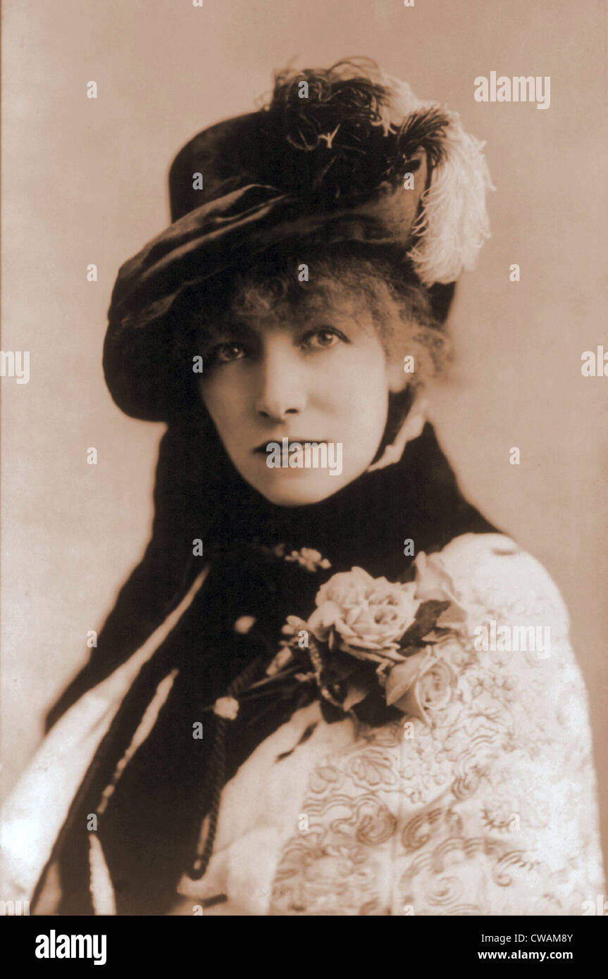 Sarah Bernhardt (1844-1923), French actress. Ca. 1880. - Stock Image