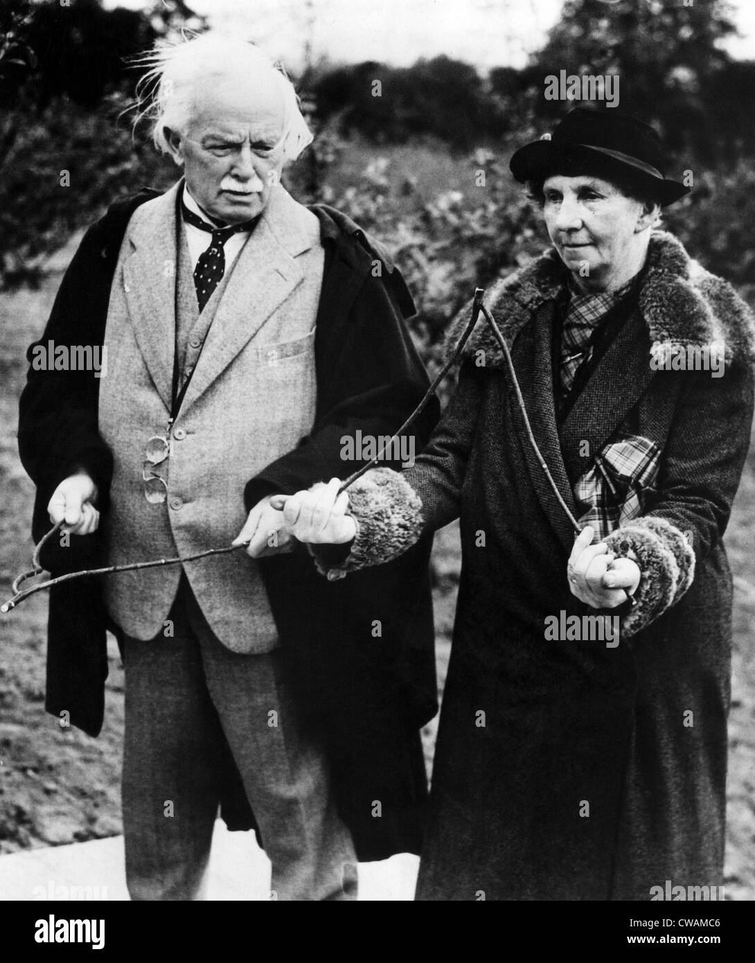 British Statesman Lloyd George and Mrs. David Wyllie, Surrey, England. May 26, 1938. Courtesy: CSU Archives/Everett - Stock Image