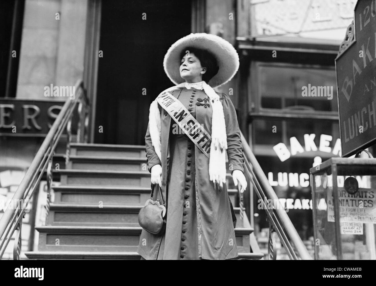 Trixie Friganza (1870 – 1955), vaudeville musical star, supported and demonstrated in the U.S.  Suffragist movement. - Stock Image