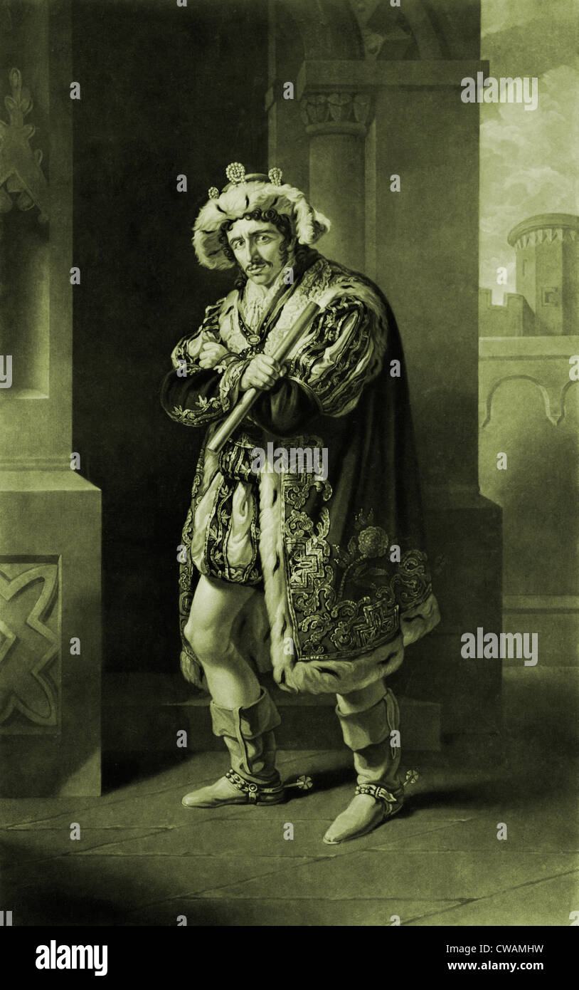 Edmund Kean (1789-1833), English actor, in Shakespeare's RICHJARD III, Act IV, Scene 4.  Kean was renowned for - Stock Image