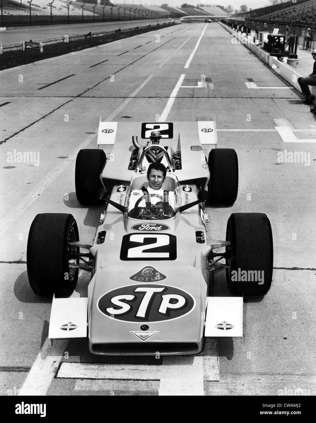 Mario Andretti in his racecar, 1969. Courtesy: CSU Archives/Everett Collection - Stock Image
