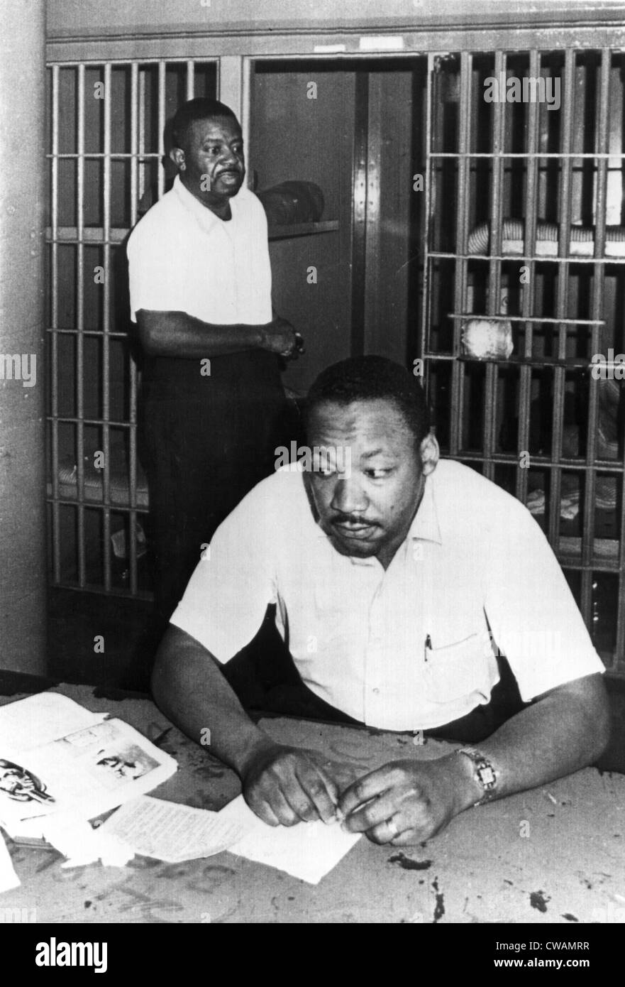 MARTIN LUTHER KING, JR, with Reverend Ralph Abernathy, in St.John's County Jail, Florida, 6/12/62. Everett/CSU Archives. Stock Photo