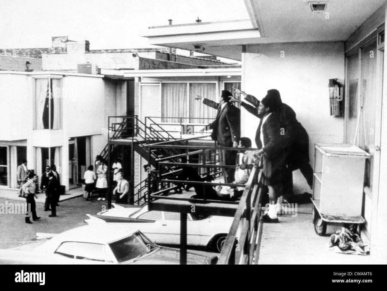 MARTIN LUTHER KING, JR assassination, 1968.. Courtesy: CSU Archives / Everett Collection Stock Photo