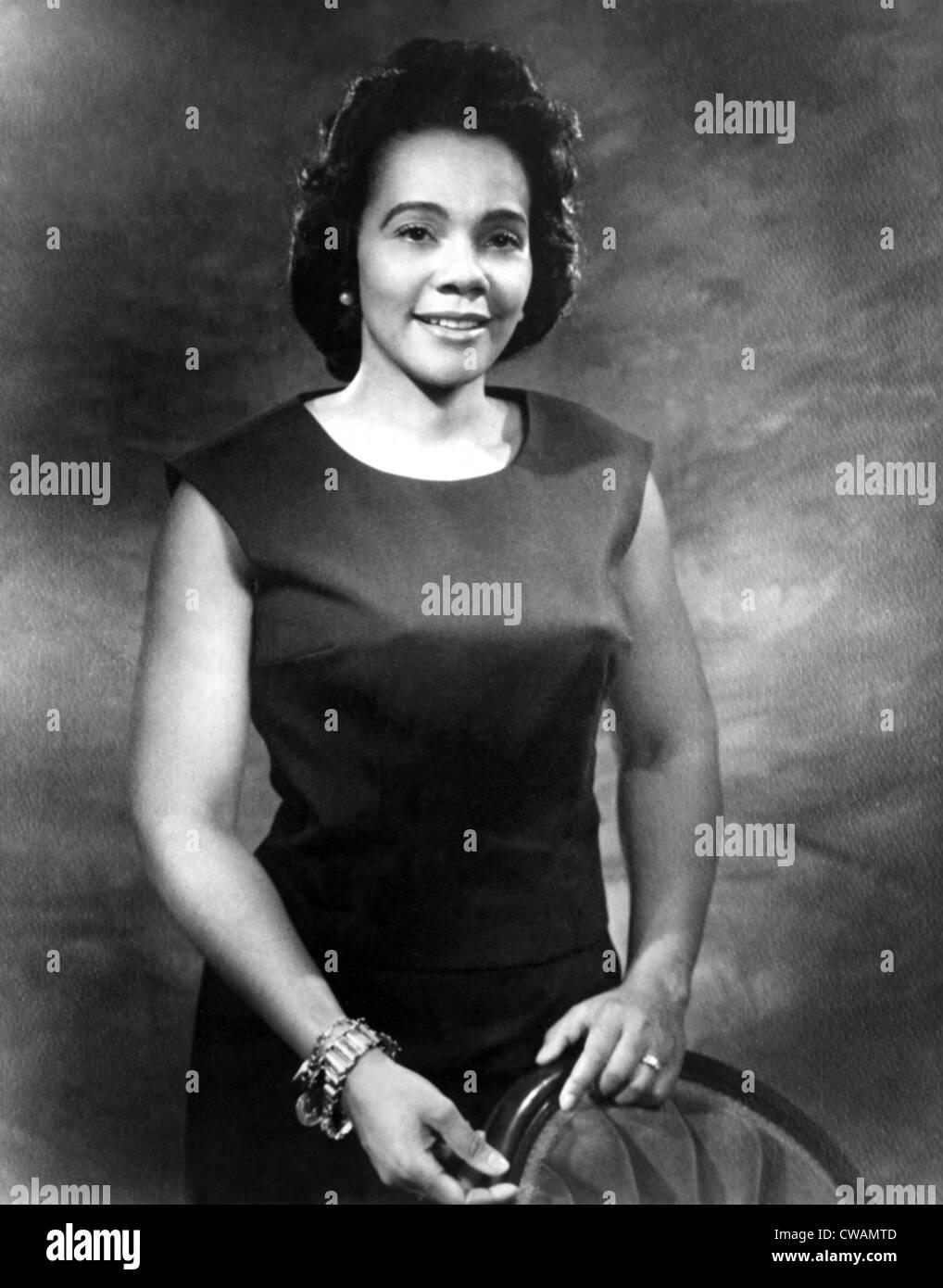 Coretta Scott King, (undated). Courtesy: CSU Archives / Everett Collection - Stock Image