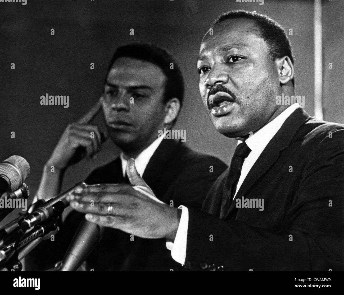 American civil rights activists Andrew Young and Dr. Martin Luther King Jr., c. 1960's.. Courtesy: CSU Archives - Stock Image