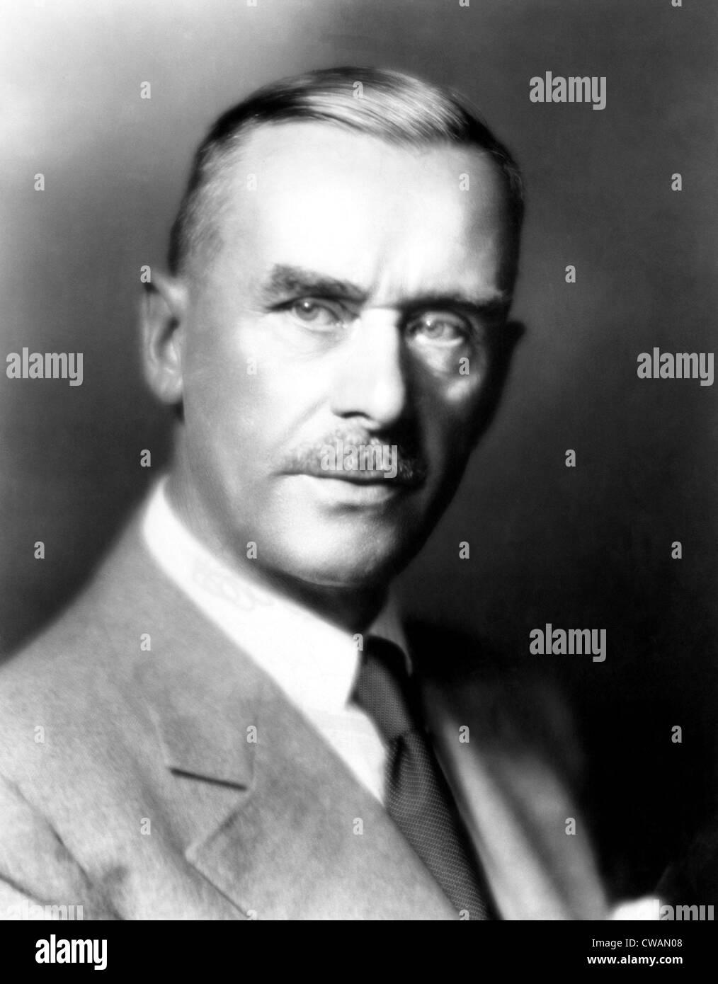 Thomas Mann (1875-1955), German novelist and Nobel Prize winner, circa 1930s. Courtesy: CSU Archives/Everett Collection - Stock Image