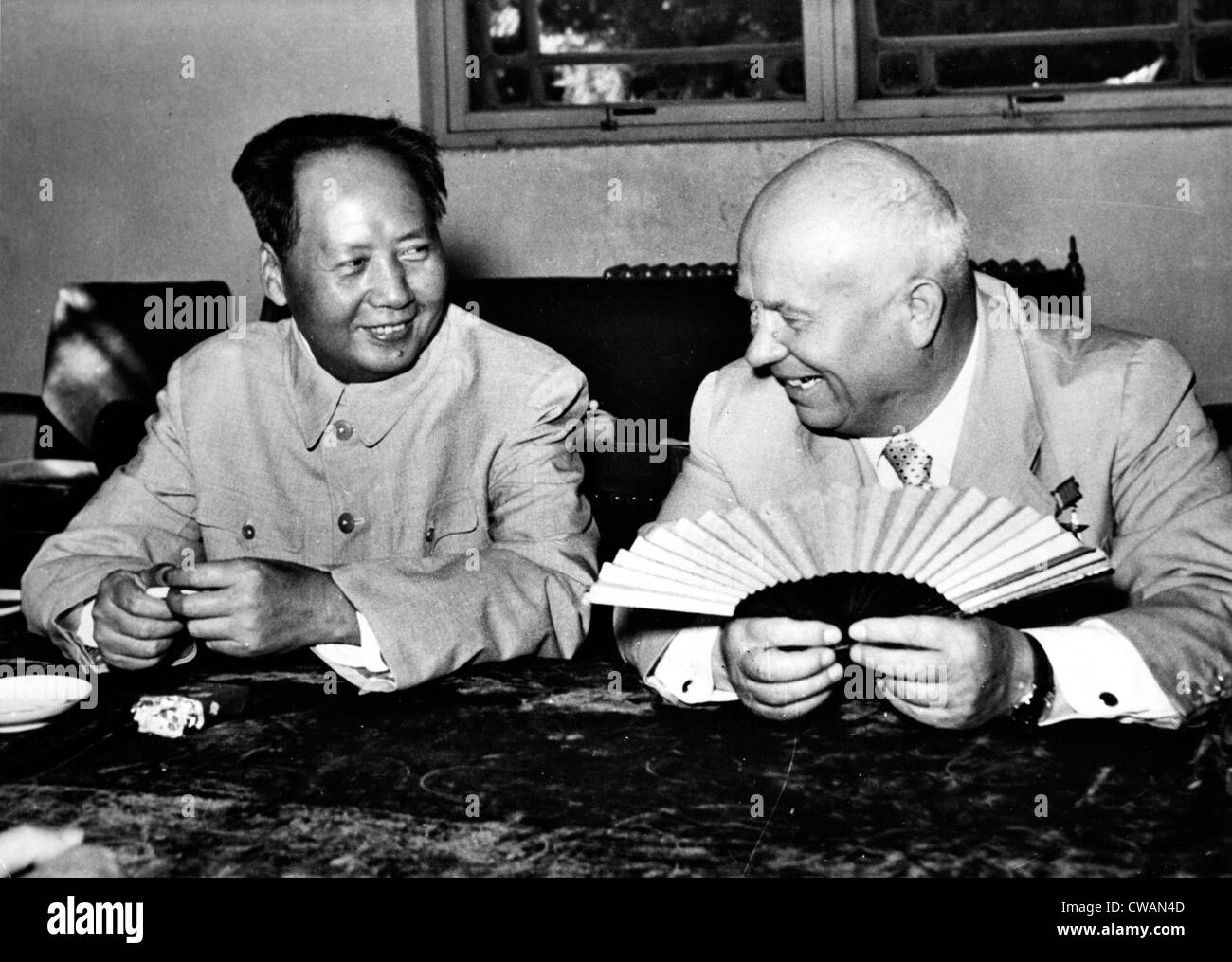 Mao Tse-Tung meeting with Nikita Khrushchev in Beijing, 1963. Courtesy: CSU Archives / Everett Collection - Stock Image