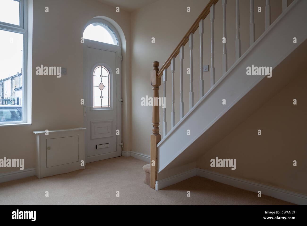 Newly refurbished terraced house. - Stock Image