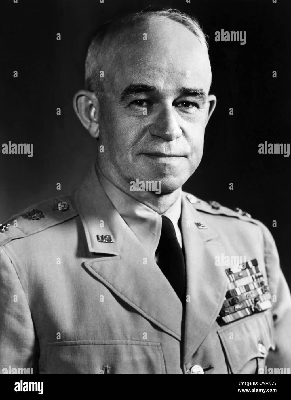 General Omar Bradley, 1954. Courtesy: CSU Archives/Everett Collection - Stock Image