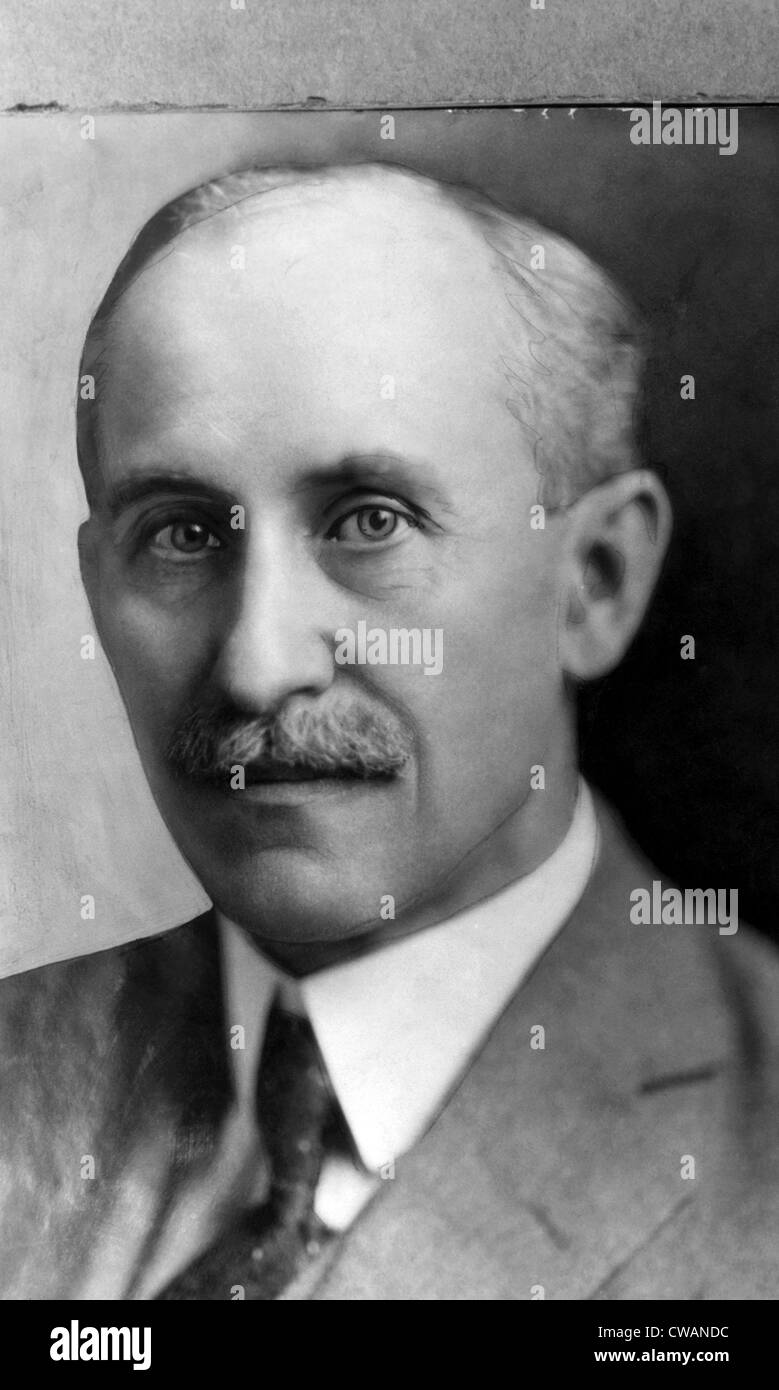 Orville Wright (of the Wright brothers), (1871-1948), Builder of the world's first successful airplane, 1928.. - Stock Image