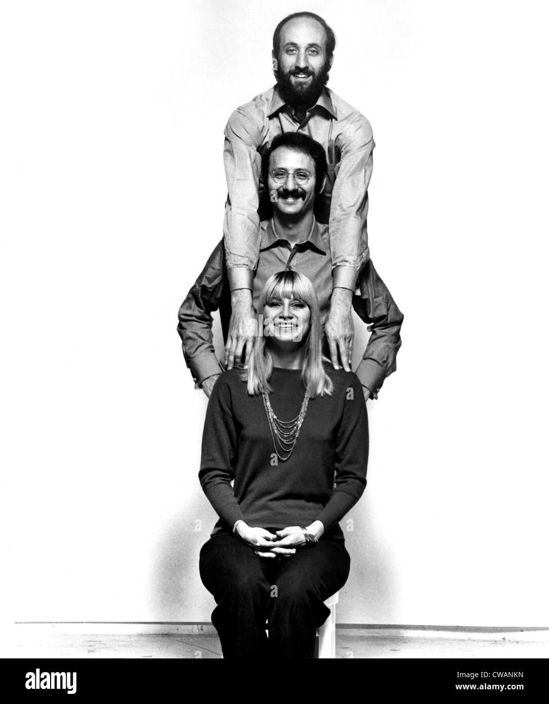 Peter Paul and Mary, (Peter Yarrow, Paul Stookey, Mary Travers), 1960s. Courtesy: CSU Archives / Everett Collection - Stock Image