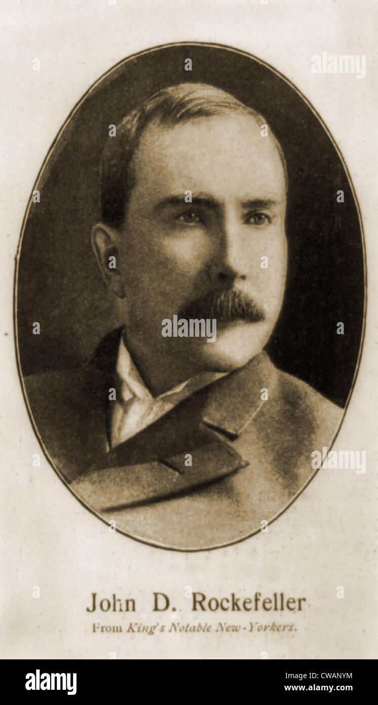 John Davison Rockefeller, 1839-1937. Portrait from 1870s, published in Harper's Weekly, May 1901. - Stock Image