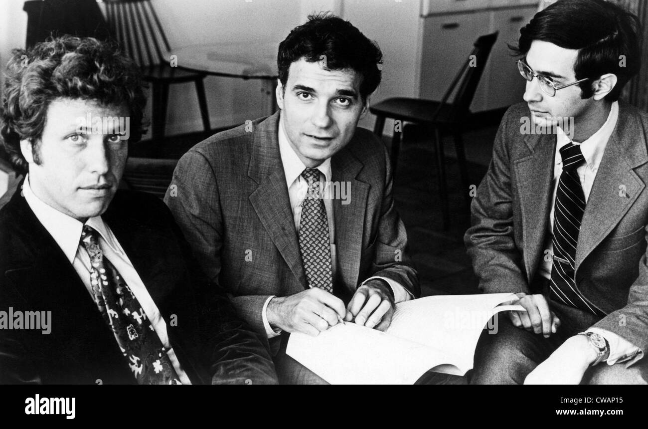 Mark Green, Ralph Nader, and Joel Seligman, authors of the book, 'Taming the Giant Corporation', ca. 1970's. - Stock Image
