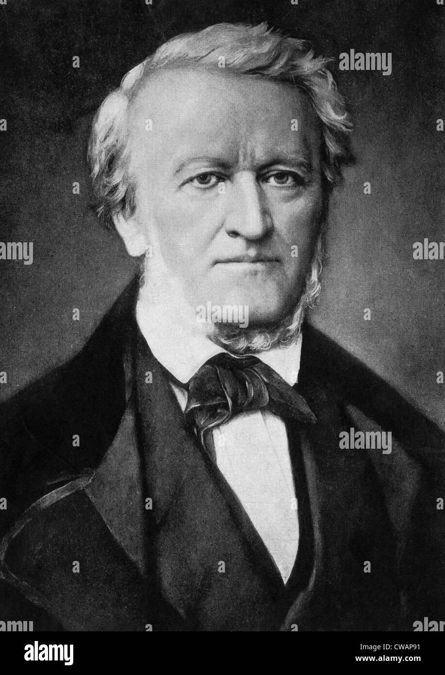 German composer and conductor Richard Wagner, (1813-1883), c. 1850s.. Courtesy: CSU Archives / Everett Collection - Stock Image