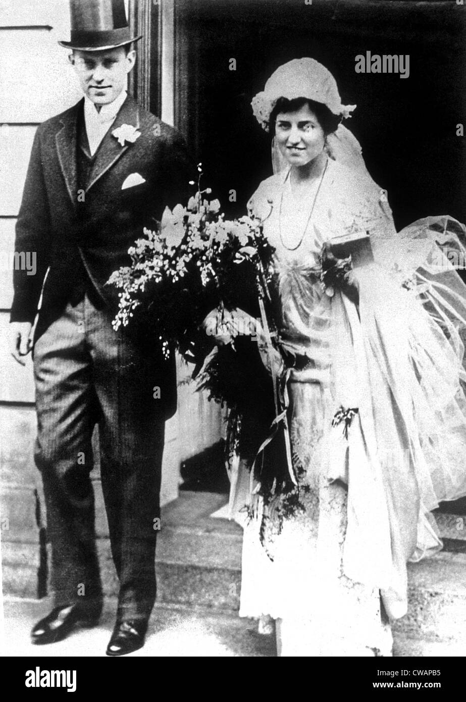 Joseph Kennedy and Rose Kennedy on their wedding day, 1914 - Stock Image