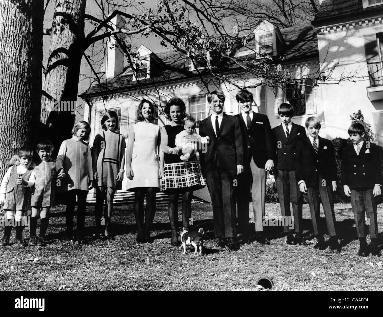 L-R: Matthew Maxwell Taylor Kennedy, Christopher George Kennedy, Mary Kerry Kennedy, Mary Courtney Kennedy, Kathleen - Stock Image