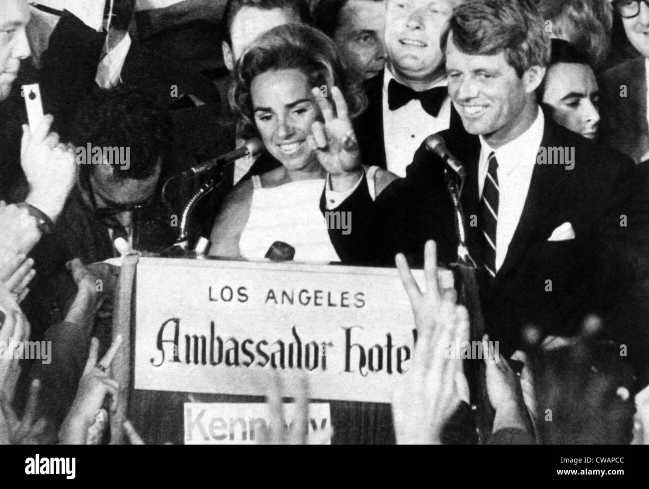 Ethel Kennedy, Senator Robert F. Kennedy, at the Ambassador Hotel just before he was assassinated, Los Angeles, - Stock Image