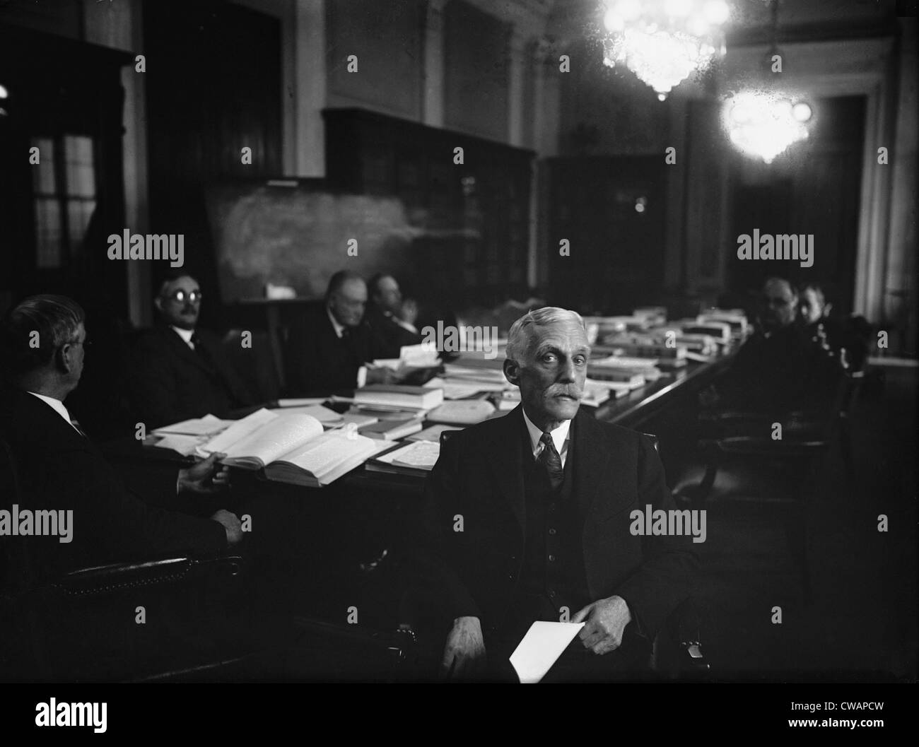 Andrew Mellon (1855-1937), Secretary of the Treasury, was one of the most powerful and respected members of the - Stock Image