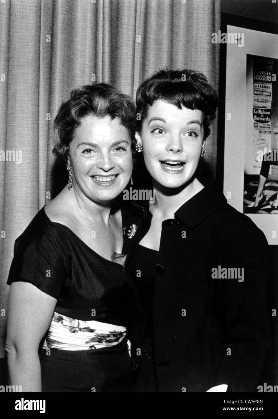 romy schneider with her mother magda 1958 courtesy csu archives