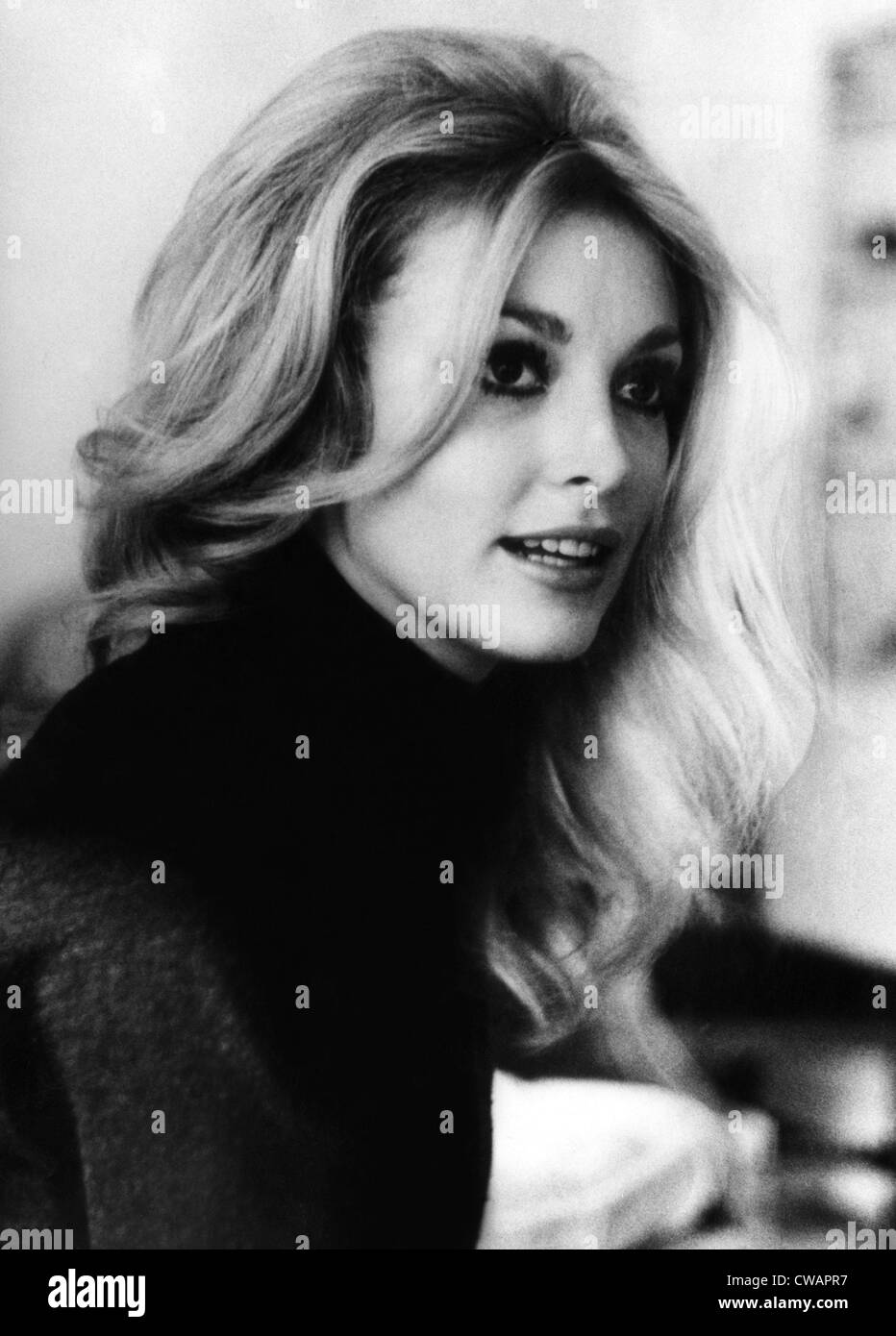 Actress Sharon Tate, (1943-1969), who was murdered in her home by members of the Charles Manson Family, 1965.. Courtesy: - Stock Image