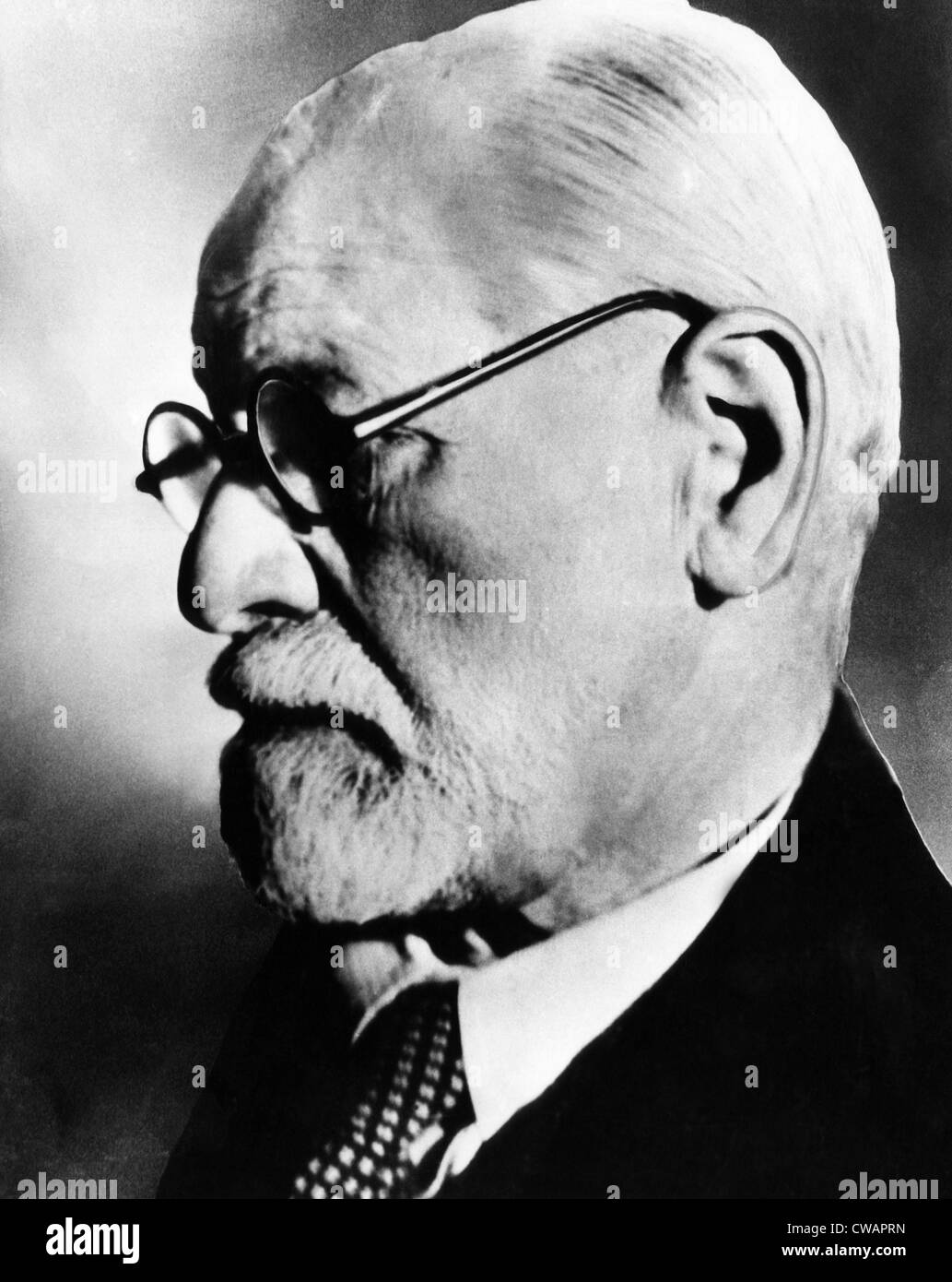 Sigmund Freud, 1936. Courtesy CSU Archives/Everett Collection. - Stock Image