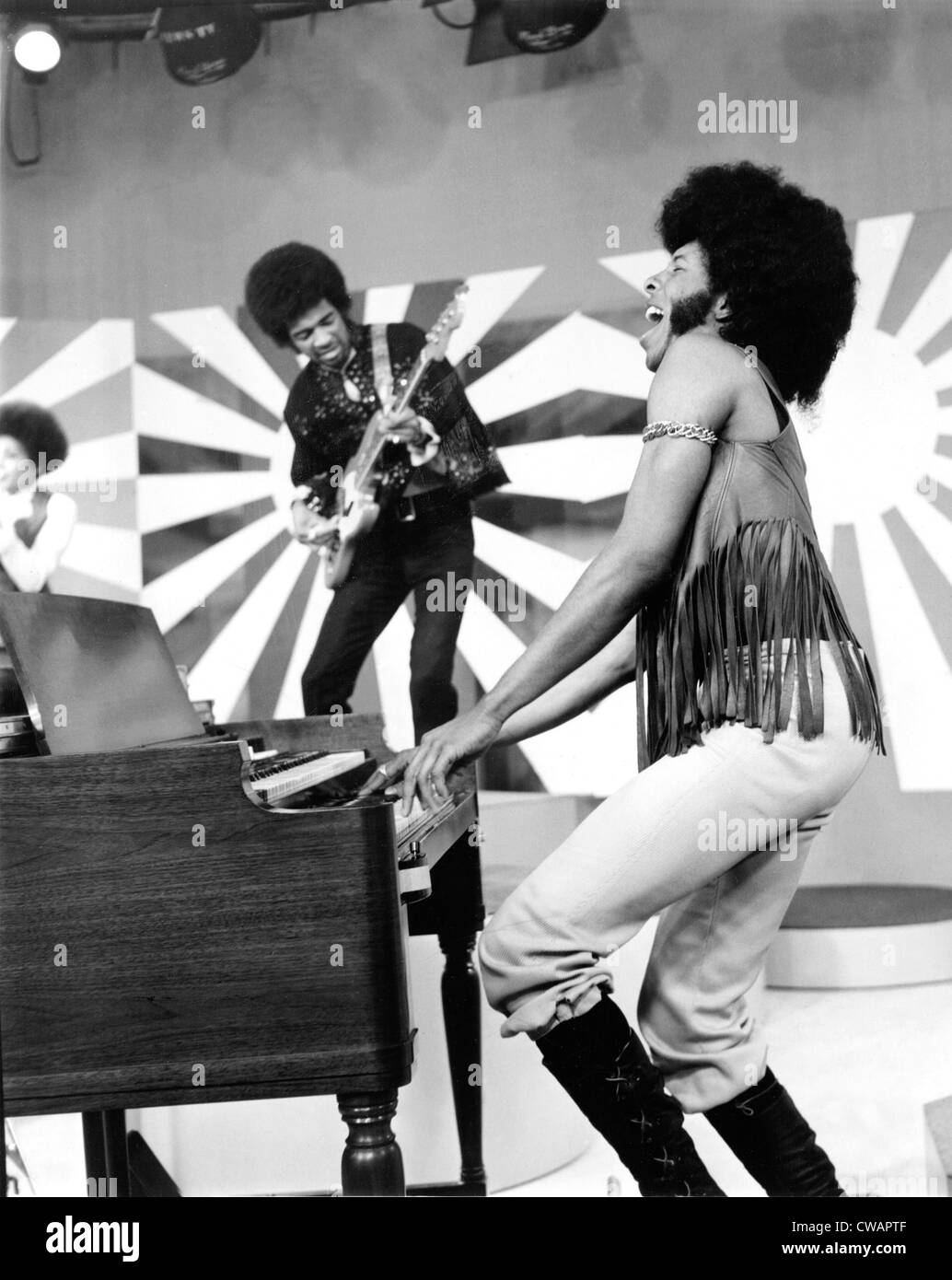 SLY AND THE FAMILY STONE performing Everyday People on UPBEAT, 1972.. Courtesy: CSU Archives / Everett Collection - Stock Image