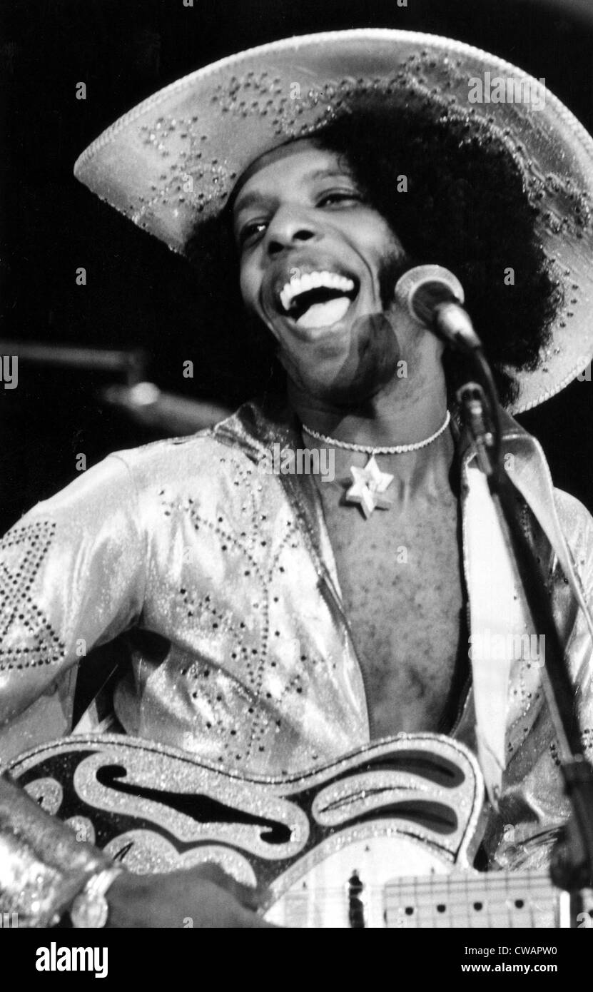 Sly of Sly and the Family Stone, 1974.. Courtesy: CSU Archives / Everett Collection - Stock Image