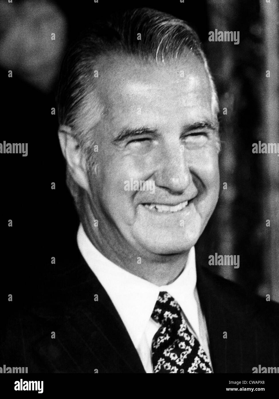 Vice President Spiro Agnew, 1973. Courtesy: CSU Archives/Everett Collection - Stock Image