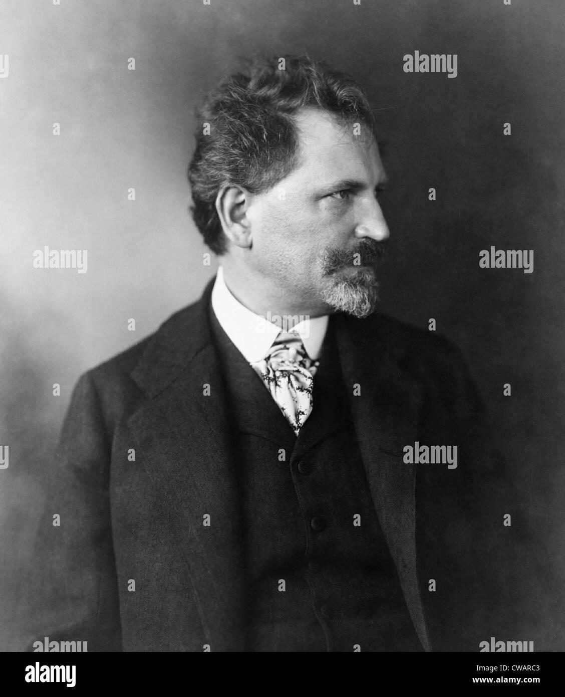 Alphonse Mucha (1860-1939), Czech art nouveau painter and poster designer. Stock Photo